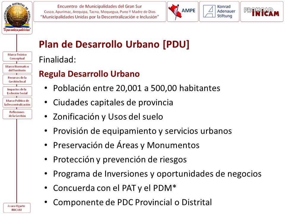 Plan de Desarrollo Urbano [PDU]